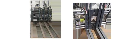 Doppelpalettenklammern Heiss gebrauchte Anbaugeräte