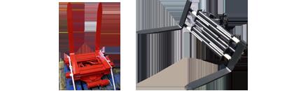 Klammergabel / Gabelklammer drehbar 360°